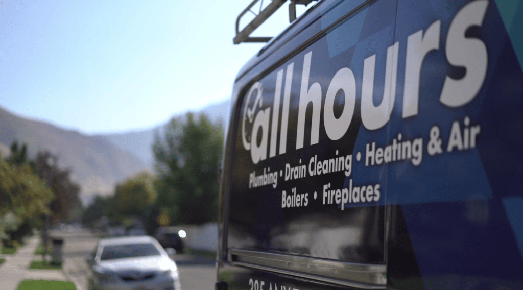 All Hours Plumbing van prepped to provide heating services in salt lake city ut